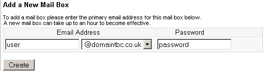 Insert the email address into the correct box and the password for the email account